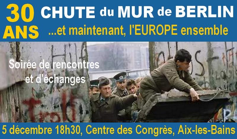 5 décembre à Aix : Soirée sur les 30 ANS de la CHUTE du MUR de BERLIN