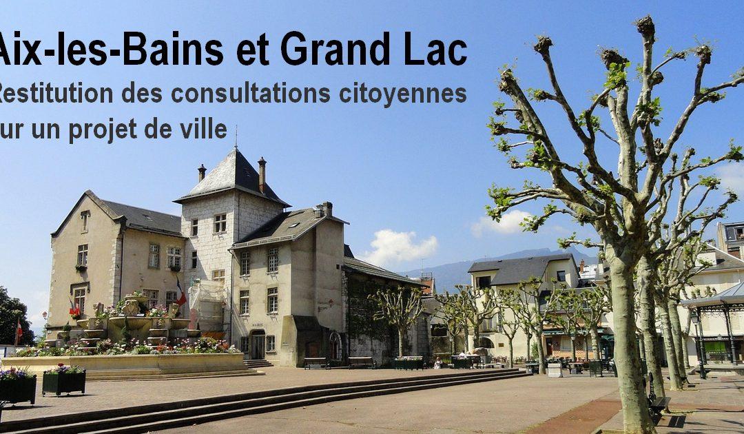 Restitution des consultations citoyennes sur un projet de ville sur Aix-les-Bains | Grand Lac