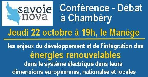 Conférence-débat jeudi 22 octobre à 19h, le Manège , Chambéry